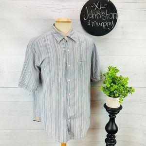 Johnston Murphy Tailored Fit Seersucker Shirt XL
